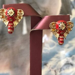 Jewelry - Red elephant earring studs